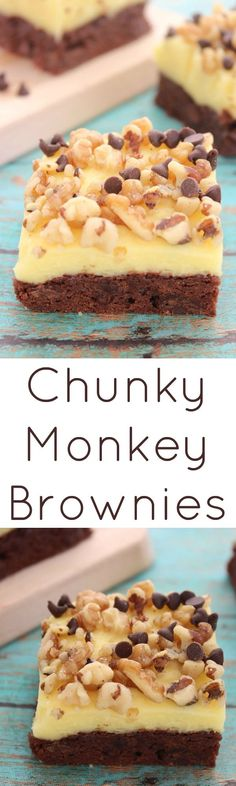 Chunky Monkey Brownies  :: Delicious Desserts recipe