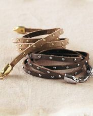 Gia Leather Wrap Bracelet