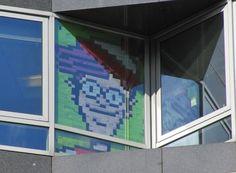 post-it note window art