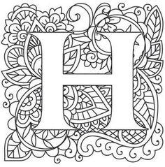 mendhika letter h_image letter h design alphabet design coloring letters coloring pages