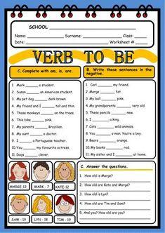 Verb to be ficha interactiva y descargable. Comprueba tus respuestas online o enviáselas a tu profesor/a.