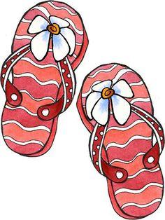 Flip Flops #clipart #patterns #colored #paintpatterns #designs