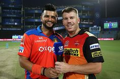 David Warner, Captain of SunRisers Hyderabad, won yet another toss and opted to field against Gujarat Lions in the second qualifier of IPL  played at Delhi on 27/05/20162016.