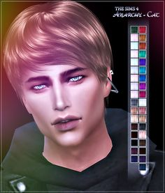 Hair 83 Male at Anarchy-Cat • Sims 4 Updates