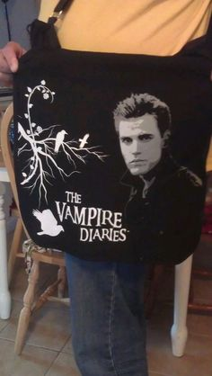 NWT VAMPIRE DIARIES CROSS BODY MESSENGER BAG FOR ANY GENDER by star521 at eBay.com