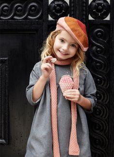 Summer wears Mamapapa dress; Ola & Olek scarf; Beret, Kido; Ice cream coin purse, Misala Handmade.