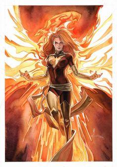 Dark Phoenix (Jean Grey) X-man, X-Factor Marvel Dark Phoenix, Phoenix Marvel, Jean Grey Phoenix, Phoenix Art, Phoenix Force, Phoenix Rising, Heros Comics, Marvel Comics Art, Marvel Heroes