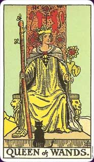 Queen of Wands Tarot Card Meaning -  a very creative woman