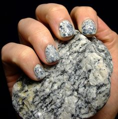 Granite inspired manicure - the geologist in me loves this!