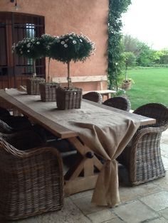 Pretty for an outdoor eating space