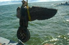 The Uruguayan government is seeking to sell as giant bronze Nazi eagle recovered from the scuttled pocket battleship Graf Spree which was deliberately sunk outside Montevideo Montevideo, Abandoned Ships, German Uniforms, Naval History, Military Insignia, Navy Ships, Art And Technology, Submarines, Boats