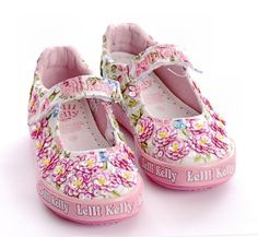 Lelli Kelly FIOR DI PESCO 1 White Sandals Youth shoes Hand Beaded Flowers Floral