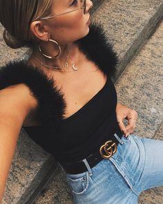 """24.1k Likes, 283 Comments - Danielle Bernstein (@weworewhat) on Instagram: """"fuzzy straps """""""