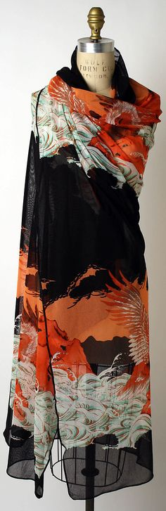 Jean Paul Gaultier Scarf; Japanese print inspired.  #divine #uxury #scarf