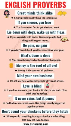 9 Best English Proverbs images in 2019 | English idioms