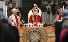 The spiritual head of the worldwide Anglican communion, Dr Rowan Williams, delivers his last Easter sermon before he stands down as Archbishop of Canterbury later this year. He emphasises the importance of core Christian beliefs as the true test of the faith during the service at Canterbury Cathedral.