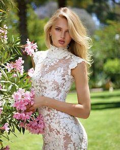3eca9d4c249 Celebrate the warm Summer season coming to an end as we feel a slight chill  in · Lace WeddingWedding GownsFantasy WeddingWedding AttireSpring ...