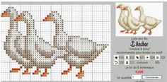 geese Chicken Cross Stitch, Tiny Cross Stitch, Cross Stitch Kitchen, Cross Stitch Heart, Cross Stitch Animals, Counted Cross Stitch Patterns, Cross Stitch Designs, Cross Stitch Embroidery, Baby Sweater Knitting Pattern