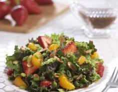 Strawberry Mandarin Red Leaf Salad