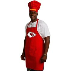 Kansas City Chiefs Red Team Chef Hat and Apron Set