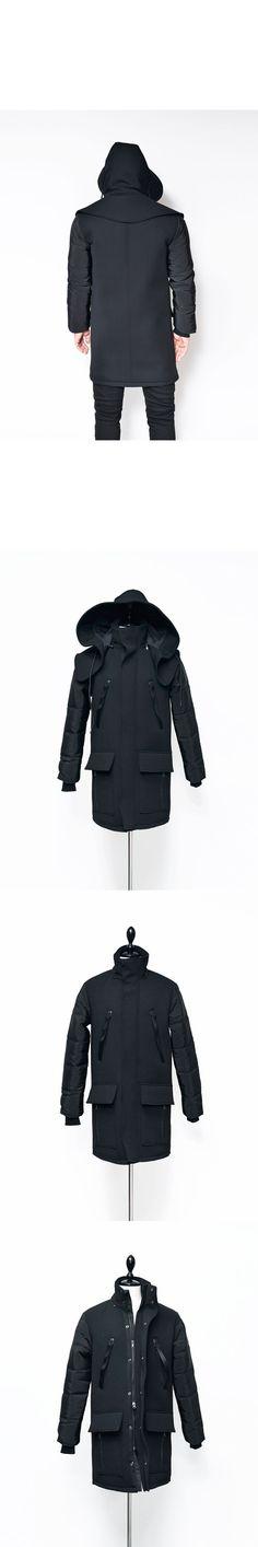 Re) Detachable Big Hood Neoprene Jacket-Parka 54 - GUYLOOK