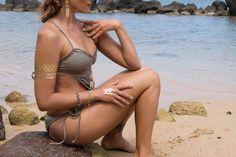 www.adovefinejewelry.com 2014 look book.  landlocked mermaid.  rhonda forsberg photography, stefanie stauber model, flashtattoos, made by dawn swim wear