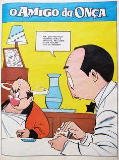 """Charge de """"O Amigo da Onça"""", de Péricles. Mais em http://designices.com/o-amigo-da-onca-1943-1961-por-pericles/"""