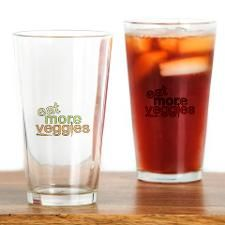 Eat More Veggies Drinking Glass