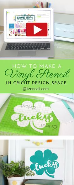 See how easy it is to create a vinyl stencil in Cricut Design Space.  Video tutorial how to make a vinyl stencil.