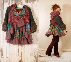 #Cardigan #jacket# Gypsy jacket Hooded jacket #Patchwork
