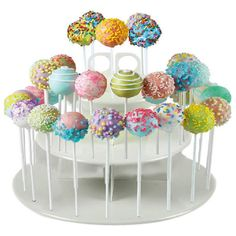 Make your tempting treats the centerpiece of any celebration with this 3-tier cupcake and cake pop stand! It is perfect for serving cupcakes, cakepops, muffins, party favors and more. Cake pops stand