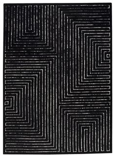 love this black and white rug