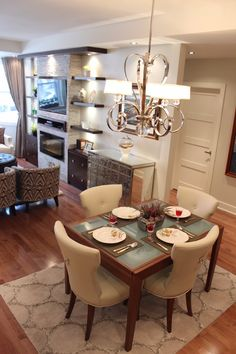 Feel like royalty in this beautiful dining room. Throw awesome parties with an open concept living room or cozy up for a quiet night in. Make your dream dining room come true with SCD design & Construction!