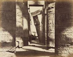 Gustave Le Gray, Karnak, Salle, Hypostyle, janvier, 1867.