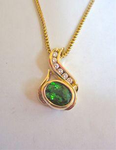 One of a kind tourmaline and diamond pendant by Glenn Dizon, www.glenndizon.com.  Available now!