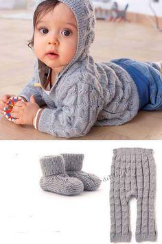 Серый комплект для малыша, фото