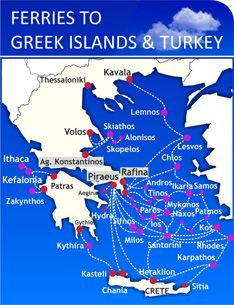 Ferry route map italy greece turkey europe pinterest italy and greek ferries ferries to greece ferry crete santorini gumiabroncs