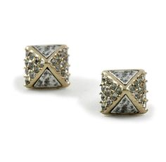a28ba1ddd As seen in our Festive Look - SIENA GOLD SMALL PYRAMID STUD EARRINGS – Tat2  Designs
