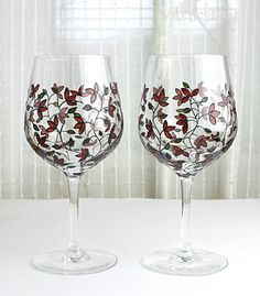 Wine Glasses Wedding Glasses Toasting Glasses  by witchcorner, £36.00