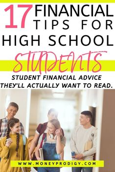 17 financial tips for high school students (actually want to read) Financial tips for high school students – these are awesome. My teens don't want to listen to me, so I can just send them these really smart student financial advice tips. Financial Literacy, Financial Goals, Financial Planning, Budgeting Finances, Budgeting Tips, Finanz App, Money Activities, Teen Money, Budget Planer