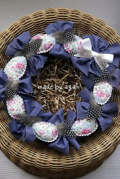 Easter Wreath by made by agah, via Flickr