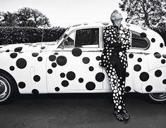George Clooney x Yayoi Kusama, photoshoot by Emma Summerton