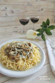 Cocina compartida: Espaguetis con setas y gulas