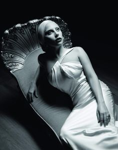 Lady Gaga, before the carnage—American Horror Story: Hotel debuts October 7 on FX.