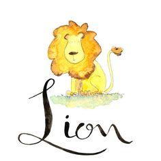 L comme Lion  Nous apprenons l'alphabet avec ce par SadlerAlison