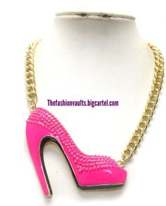 We  shoes, how about you? Rock this sexy high heel necklace for only $16 www.thefashionvaults.bigcartel.com