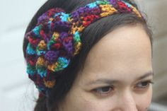 Crocheted Petals Headband by VeesAccessories on Etsy