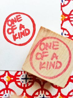 OOAK rubber stamp - hand carved rubber stamp -handmade rubber stamp -  mounted. $10.00, via Etsy.