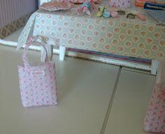 SHOPPING BAG - Dollhouse Miniature 1/12 th Scale. $25.00, via Etsy.