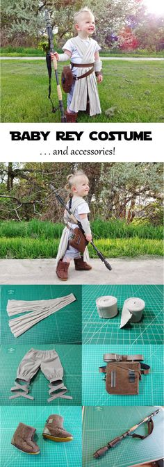 Star Wars Rey Costume With Props - Star Wars Girls Ideas of Star Wars Girls - This costume is for a toddler but you can adapt it for someone of any age! Have you picked your Halloween costume yet?